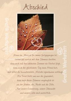Trauerkarte 22578