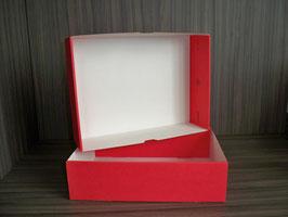 Präsentkarton rot mit Deckel 161
