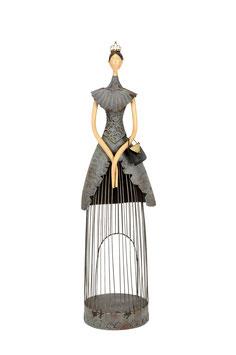 Frau mit Handtasche H 56 grau
