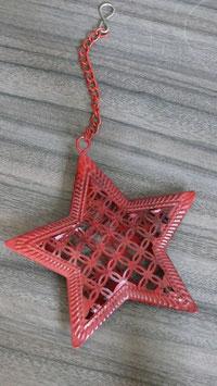 Hänger Metall rot Stern H153