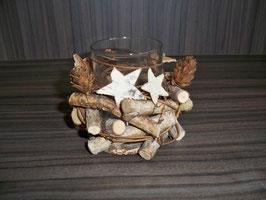 Teelichthalter  Natur Holz 1er