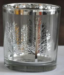 Teelicht Silver Tree 8 cm
