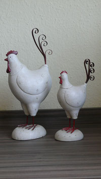 Hahn und Henne  cremgrau