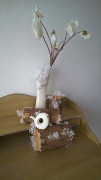 Alpenveilchen weiß Frost