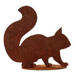 Eichhörnchensilhouette auf Platte