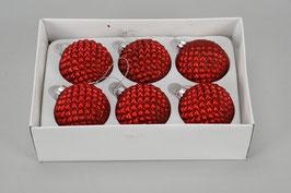 Weihnachtskugel 491303 rot D6