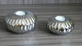 Teelicht steingut silber-SSV