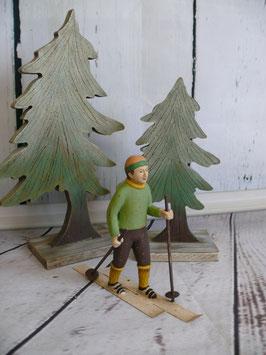 Briefinghome Skifahrer grün