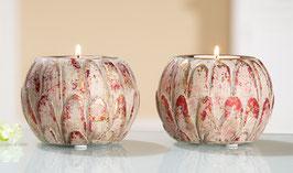 Keramik Teelicht Lotusblatt