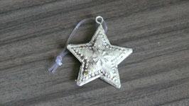 Weihnachtshänger metall silber Stern H167
