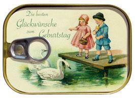 Vintage Glückwunsch- Dosenpost 0141