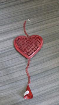 Hänger Herz mit Glocke rot H151