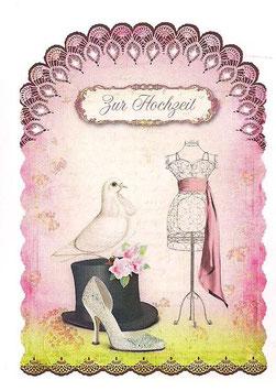 Doppelkarte Hochzeit