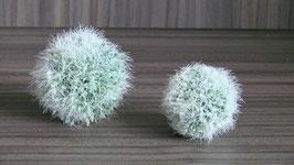 Dekokugel 8cm Allium grün - weiss