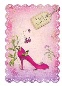Doppelkarte Schuh