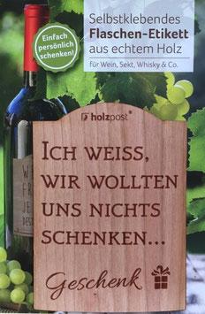 Selbstklebendes Flaschen - Etikett