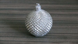Kugel-Weihnachtskerze silber