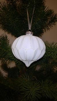Hänger Origami Zwiebel weiss, D 8 cm