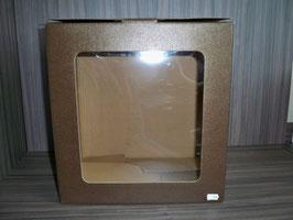 Geschenkkarton mit Fenster braun