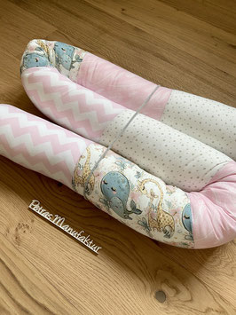 "Bettschlange ""Babytiere rosa"""