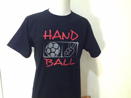 T-Shirt Handball Victory schwarz/rot/grau