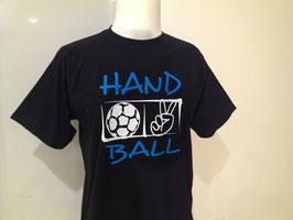 T-Shirt Handball Victory schwarz/neonblau/weiß
