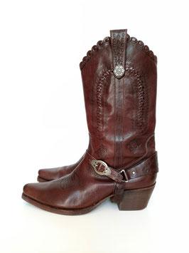Cowboy Stiefel Leder, Gr. 41
