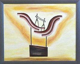 """Skulpturen Ölbild """"Gegenseitige Wertschätzung"""""""