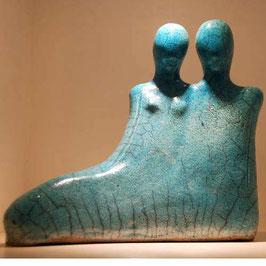 """Skulptur """"Zusammenliegen"""""""