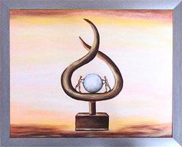 """Skulpturen Ölbild """"Gemeinsamer Unternehmenserfolg"""""""