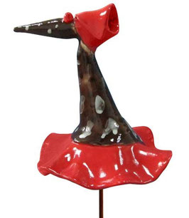 "Skulptur ""Fantasievogel braun fleckig"" 40 cm"