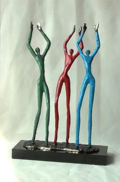 """Bronzeskulptur """"Applaus für ihren Einsatz"""""""