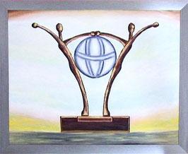 """Skulpturen Ölbild """"Erfolgreiche Verbindung"""""""