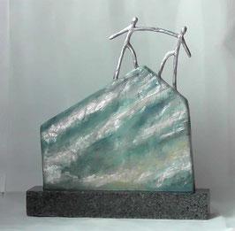 """Skulptur """"Entscheidende Schritte"""""""