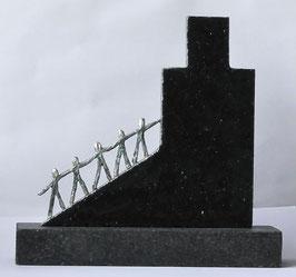 """Skulptur """"Meilensteine der Zusammenarbeit"""""""