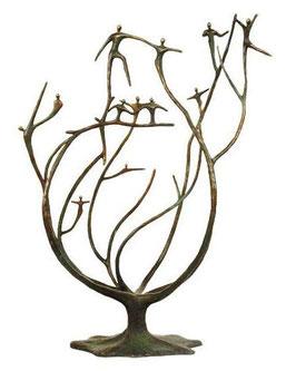 """Bronzeskulptur """"Der Stamm der Organisation"""""""
