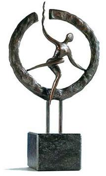 """Skulptur """"Auf neuem Weg"""" - große Ausführung"""