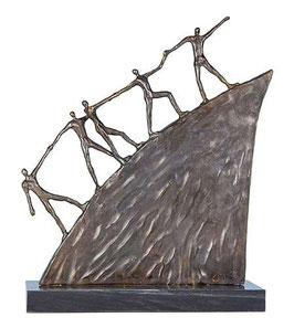 """Bronzeskulptur """"Der Weg nach vorne"""" - große Ausführung"""
