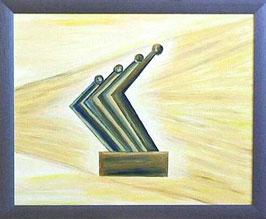 """Skulpturen Ölbild """"Dynamischer Fortschritt"""""""