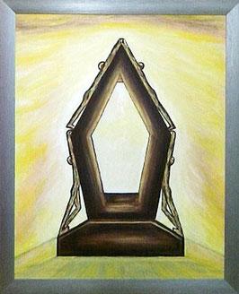 "Skulpturen Ölbild ""Das Erfolgsfundament"""