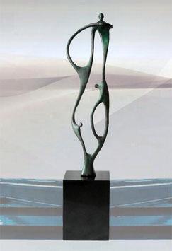 """Bronzeskulptur """"Zukunft durch Zusammenarbeit"""""""