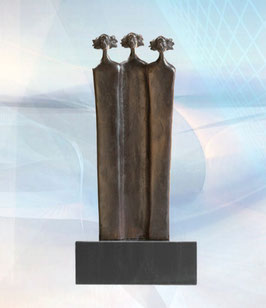 """Bronzeskulptur """"Die Grundpfeiler"""""""