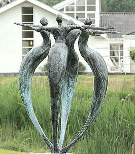"""Skulptur aus Bronze """"Einheit"""" 80 cm"""