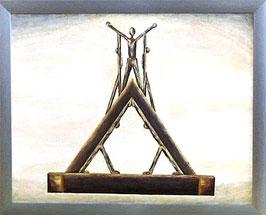 """Skulpturen Ölbild """"Der Zusammenhalt"""""""
