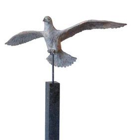 """Skulptur aus Bronze """"Taube"""" 150 cm"""