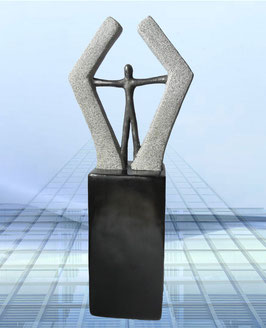 """Skulptur """"Neue Erfolgswege bestreiten"""""""