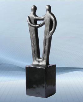 """Skulptur """"Wertvolle Jahre der Zusammenarbeit"""""""