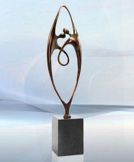 """Bronzeskulptur """"Gewachsene Zusammenarbeit"""" - große Ausführung"""