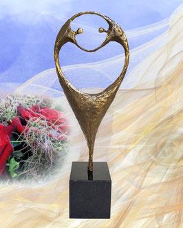 """Skulptur """"Gemeinsame Leidenschaft"""""""