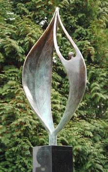 """Skulptur aus Bronze """"Ein neuer Anfang"""" 100 cm"""